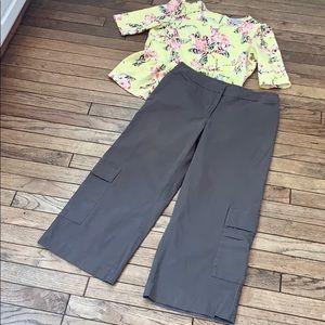 Eileen Fisher Cotton Wide Leg Crop Pant